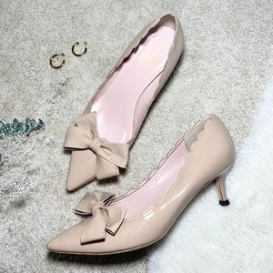 Kate Spade Maxine Scalloped Pumps in Nude